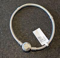 Pandora Jewelry-Signature Moments Charm Bracelet-Sterling Silver/14k/CZ sz 7.9