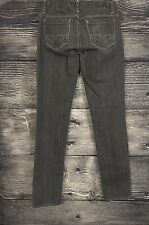 Women's American Eagle Faded Black Gray Denim Jeans Sz 4 (4 x 33) **Read Desc**