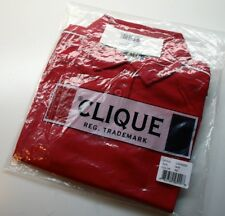 Clique by Cutter and Buck Canberra Golf Polo 2016 Womens Medium M RED CoolDry