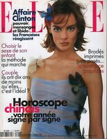 Elle French Magazine 2 Fevrier 1998 Affaire Bill Clinton Fashion 091719AME2