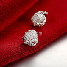 Fashion Jewelry Women Lady Girls Twisted Knit Knotted Ball Ear Stud Earrings New