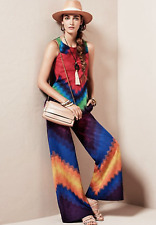 MISSONI Lame Multi Colored Sleeveless Jumper jumpsuit overall pants sz 40