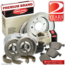 Peugeot 206 1.4 8V Front Brake Pads Discs 247mm Rear Shoes Drums 203mm 75BHP Set
