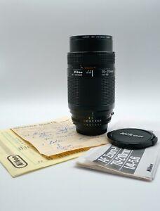 Nikon AF Nikkor 70-210mm f4-5.6 Ais  macro AutoFocus zoom lens + Instructions