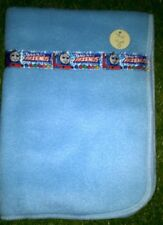 Dolls Blue Fleece Blanket with Thomas Tank Engine Ribbon Detail ~Ideal for dolls
