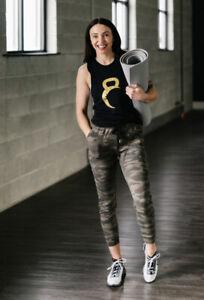 Women's ZYIA S Small CAMO Unwind Joggers New!