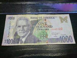 🇯🇲 Jamaica 1000 dollars 2018 P-86n Banknote Currency Paper Money 101621-2