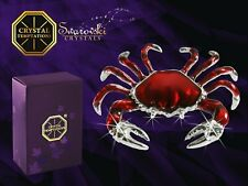 Crystal Temptations - Crab 4530 with Swarovski - Stones Red Enamelled