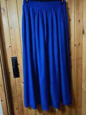 NEXT - Peacock Blue Long Skirt - Size 10 - 12 - Elasticated Waist