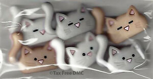 Dress It Up The Coolest Cats 6 Novelty Buttons New Crafting Knit Sewing New