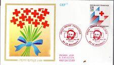 2555+ FDC ENVELOPPE  1er JOUR  CEF   CROIX  ROUGE