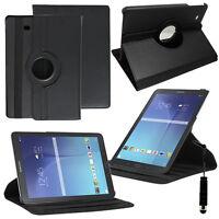 Etui Housse Rotatif 360° NOIR Samsung Galaxy Tab E 9.6 T560 T561 + Mini Stylet