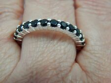 BOI PLOI BLACK SPINEL FULL ETERNITY/STACKABLE RING-SIZE Q-2.500CTS