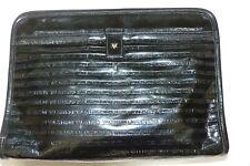 Mario Valentino Clutch V logos Black Leather Bag - Vintage