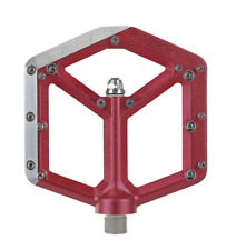 Spank Spike Platform Bicycle  Pedals Alloy body Steel axle 100mm x 100mm Red