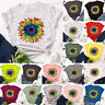 Womens Summer Basic Loose Floral Casual Pullover Blouse Tee Shirt Ladies Tops