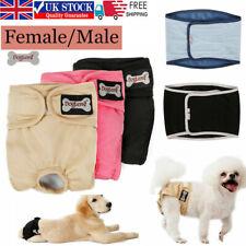 Female/Male Pet Dog Puppy Hygiene Diaper Pants Washable Reusable Nappy Pants UK