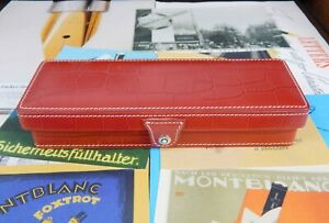 Ultra Rare-New Old Stock(NOS)-Mint Montblanc Red Crocodiles Collector Box