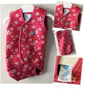 Splash about Baby Girls Floral Wrap Wetsuit Swim Warmer Suit 0-6 Months