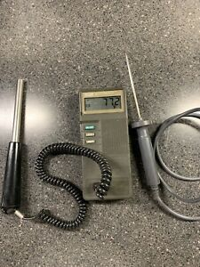 TESTED Fluke 51 K/J Handheld Digital Thermometer with 1 probe thermocouple