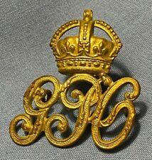 SUPERB ORIGINAL GPO POST OFFICE UNIFORM BADGE - BRASS KINGS CROWN INSIGNIA BADGE
