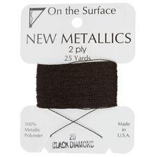 Beadsmith Metallic Polyester Thread 2 ply Black Diamond 25yd (G54/4)