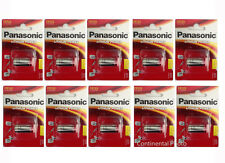 10 Pcs Panasonic CR123 CR-123 3V Lithium Batteries for Cameras, Flashlight FRESH