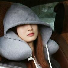 Soft Comfortable Hooded Neck Travel Pillow with Hoodie and memory foam