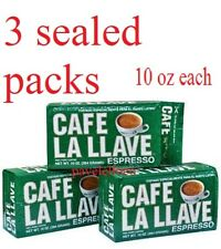 cafe la llave espresso  coffee ground,cafe 3 bricks Of 10oz each