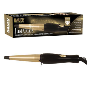Professional Curls Conical Ceramic Hair Curling Wand Salon Curlers Tong Styler