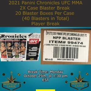 Holly Holm 2021 Panini Chronicles UFC MMA 2X Case Blaster Break #1