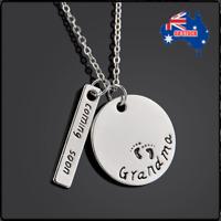 Grandma Coming Soon Family Love Heart Women Jewelry Charm Chain Pendant Necklace