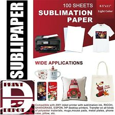 Dye Sublimation Transfer Paper Sublipaper 100 Sheets 8.5�x11� Free Delivery