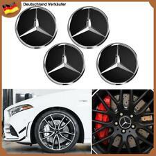 4x 60mm Stern Logo Schwarz Felgendeckel Nabendeckung Radkappen für Mercedes Benz
