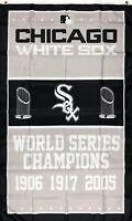 Chicago White Sox World Series Championship Flag 3x5 ft MLB Sports Banner Garage