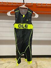 Alé Cycling Record Triathlon Suit - Front Zip - Yellow/Black - Men's L-XXL
