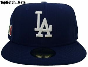 Los Angeles Dodgers Fitted 59Fifty New Era Mexico Flag Blue Cap Hat Brand New !!