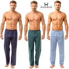 2 pack pyjama bottoms mens plain poly cotton lounge pants S M L XL 2XL