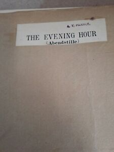 The Evening Hour  by Albert Kussner Sheet Music - 1910 many instruments