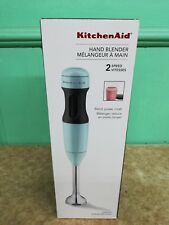 Kitchenaid 2-Speed Immersion Hand Handheld Blender Ice Blue with Bending Jar