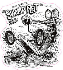 """Swamp Rat Decal is 5"""" x 6"""" in size. Free Shipping"""