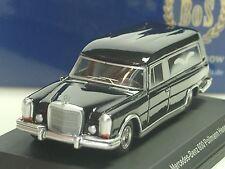 BOS Mercedes 600 Leichenwagen, schwarz - 87015 - 1:87