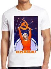 Soviet Astronaut T Shirt USSR Propaganda Space Retro Cool Gift Tee 331