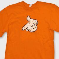 Mickey Hands Gunpoint Funny Gangsta T-shirt Disney cartoon Mouse Tee Shirt