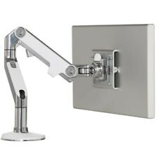 *NEW* Humanscale M8 monitor arm - Chrome Silver & White *FOR 25MM DESKS ONLY*