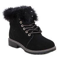 botas de mujer botas zapatos atado piel botas militares caldi nuevo W8120