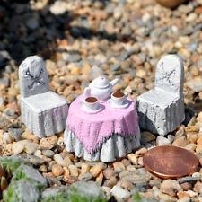 Miniature Fairy Garden Afternoon Tea Micro Parlor, 3 Piece Set