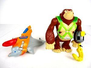 Fisher Price RESCUE HEROES Animal  Set of 2 SWINGER Gorilla & NEMO Dolphin