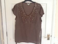 M & Co LIGHT BROWN TOP SiIZE 16