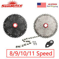SUNRACE 8/9/10/11s 11-40/42/46t Detachable MTB Cassette KMC Chain Sprocket Hook